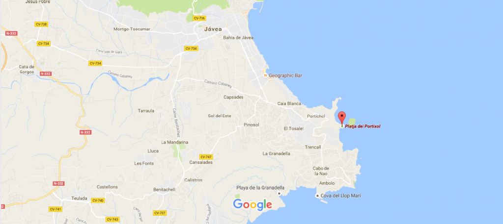 mapa el portixol