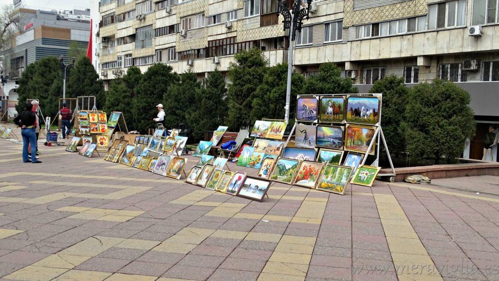 Calle Arbat de Almaty