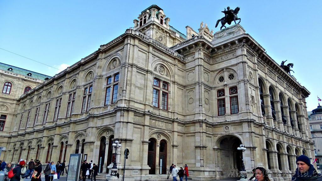Exterior de la Opera de Viena