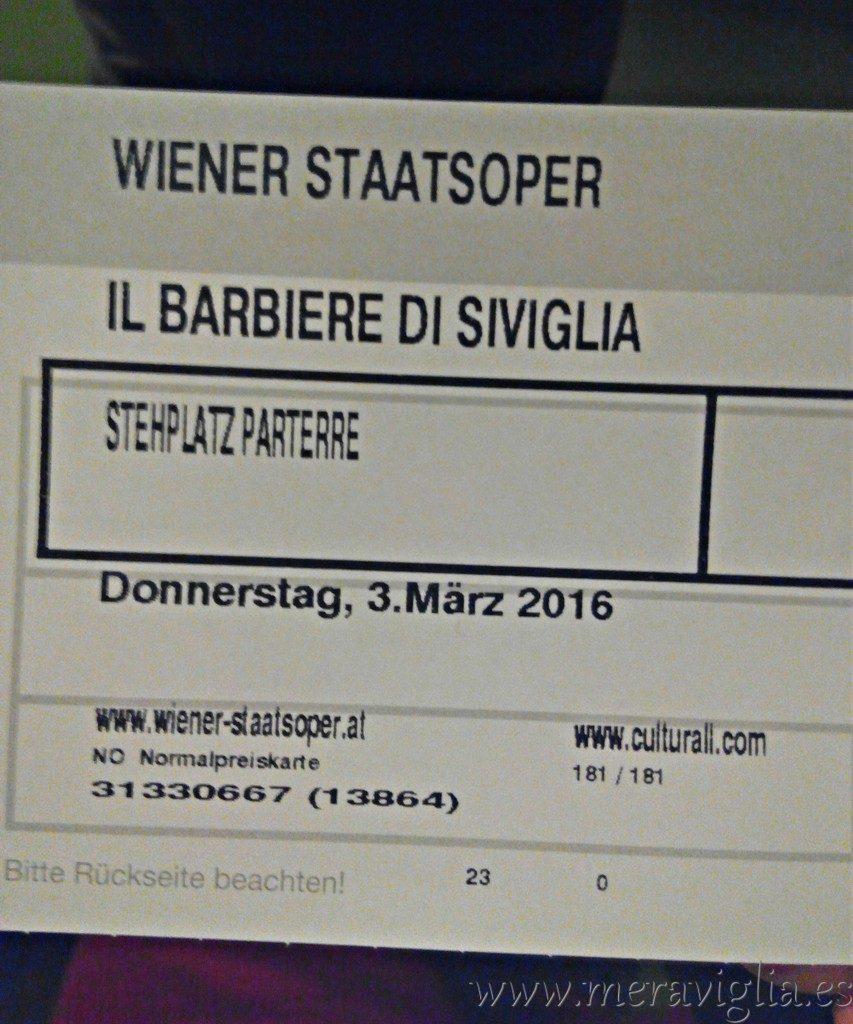 Stehplatz en la Opera de viena