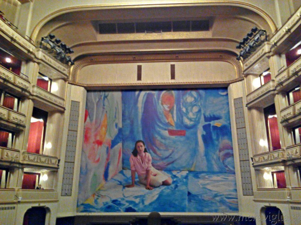 Vistas del palco central de la Opera de Viena