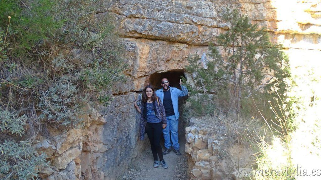 Entrada al acueducto Albarracin-Cella
