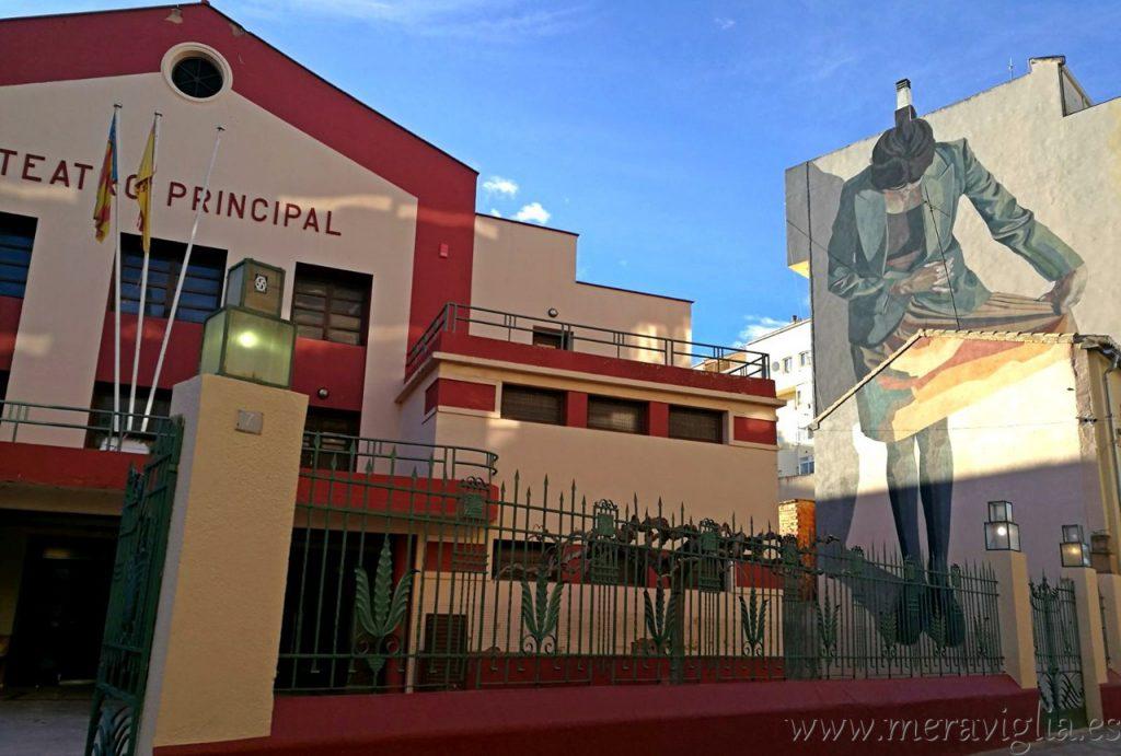 Graffiti teatro principal Requena