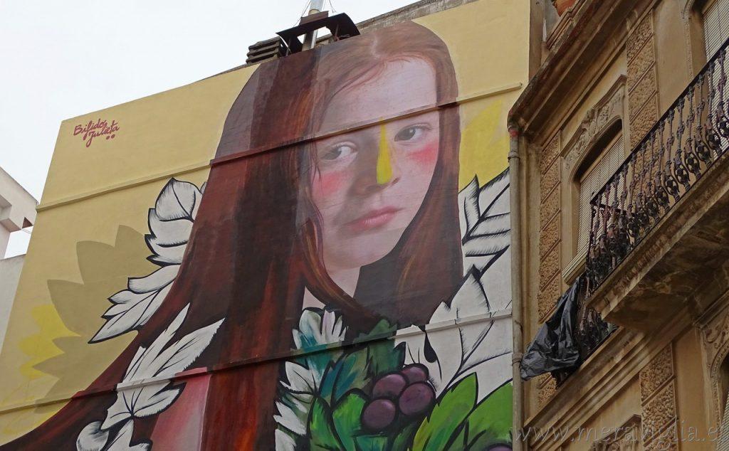 Mural gigante en Requena