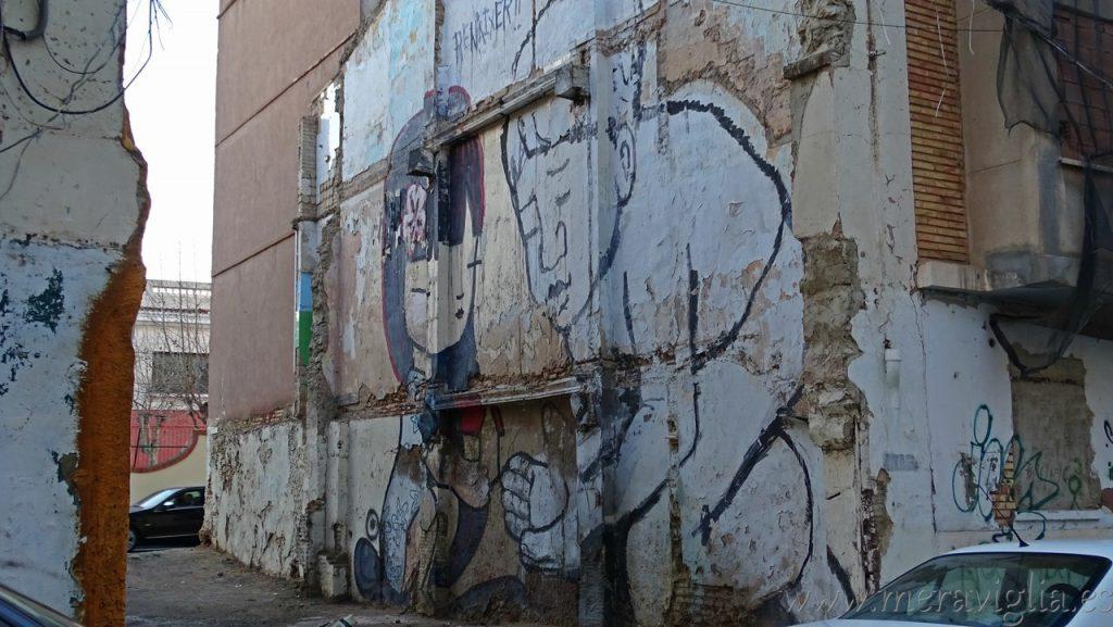 Graffiti en el Cabañal, Valencia