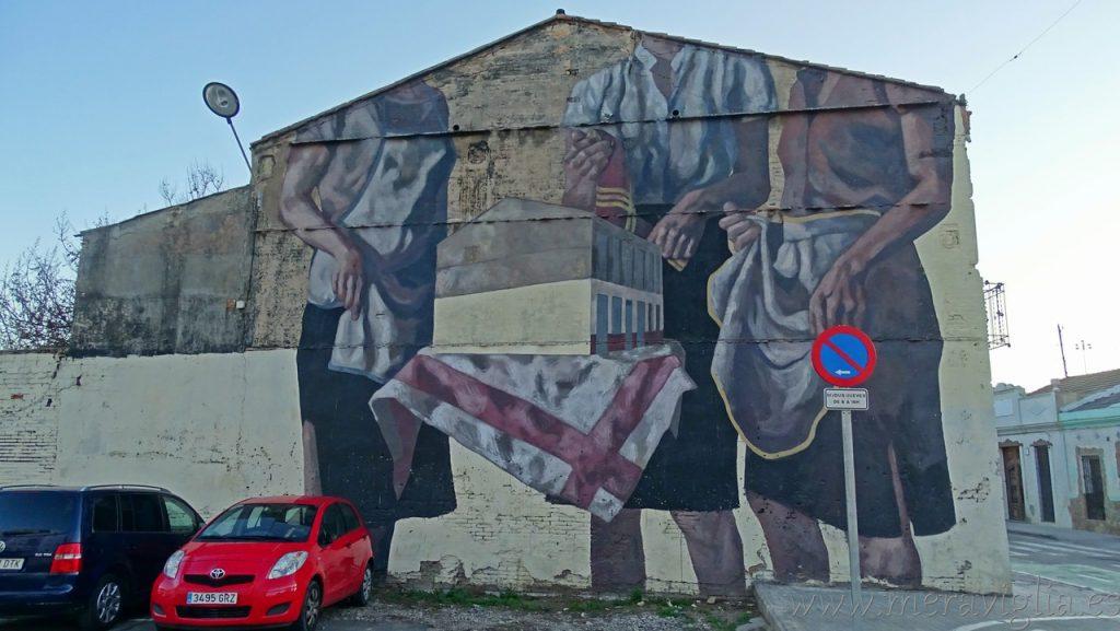 Mural gigante en el Cabanyal