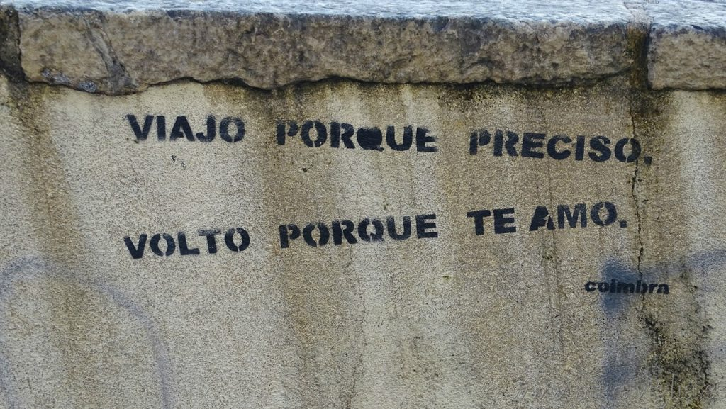 Mensaje muro Coimbra