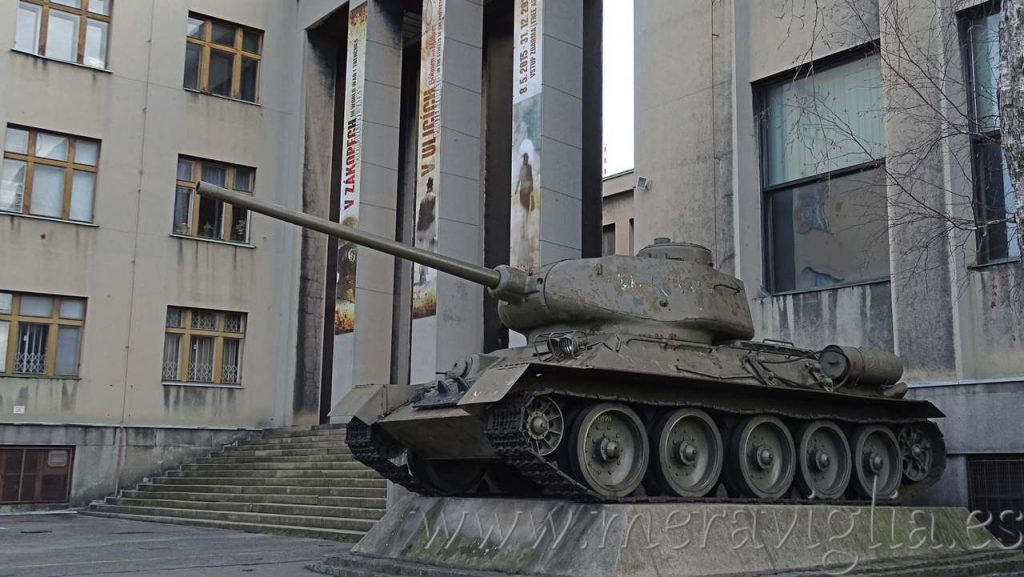 Tanque antiguo en Praga