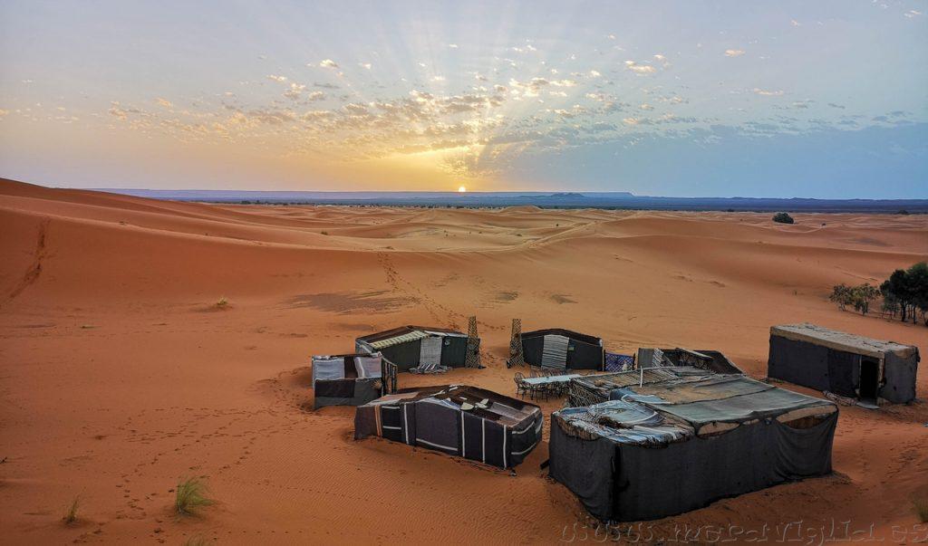 Amanecer en el desierto, Marruecos