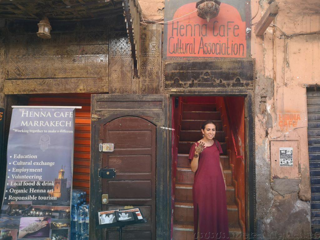 Ubicacion Henna Cafe Marrakech