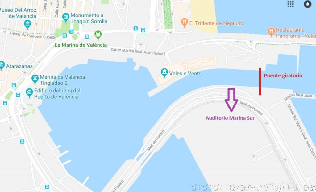Marina Sur Valencia Mapa