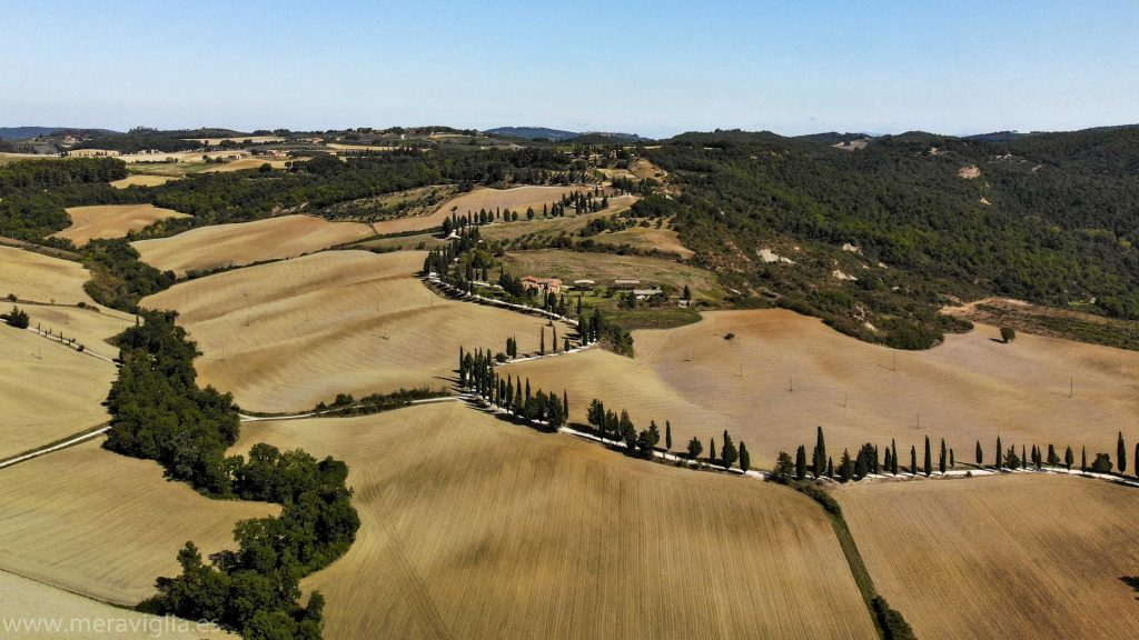 Val dOrcia Toscana drone