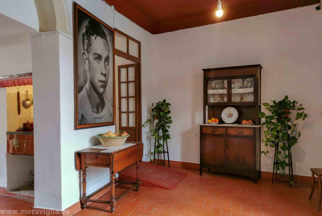 Interior de la casa de Miguel Hernández en Orihuela.