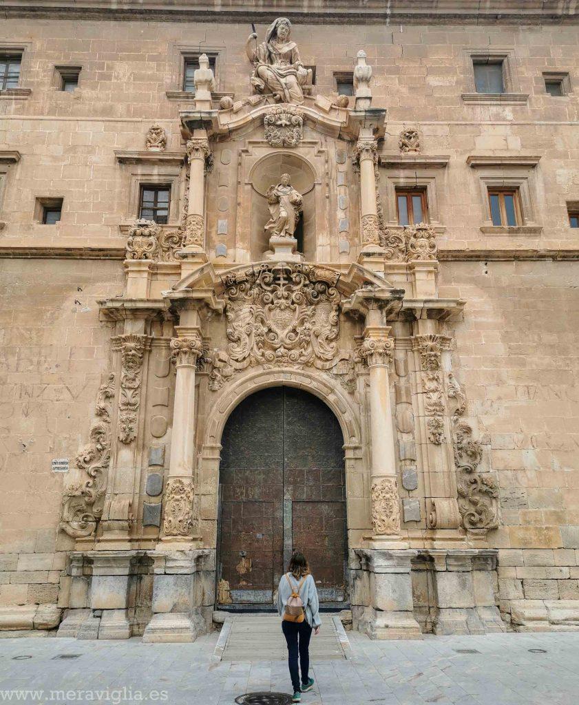 Portada de la Universidad del Colegio Diocesano Santo Domingo, Orihuela.