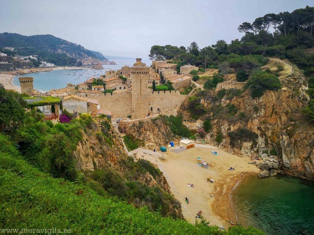 Vistas desde el Camí de Ronda, en Tossa de Mar (Girona)